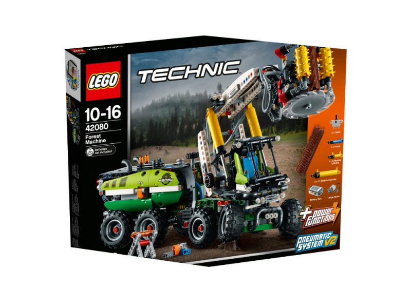 harvester forstmaschine lego technic lego 42080. Black Bedroom Furniture Sets. Home Design Ideas